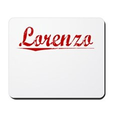 Lorenzo, Vintage Red Mousepad