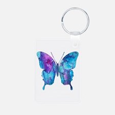 Electric Blue Butterfly Keychains