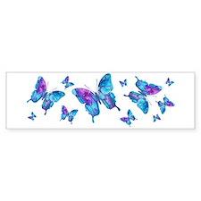 Electric Blue Butterfly Bumper Sticker