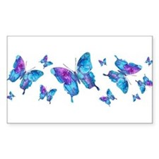 Electric Blue Butterfly Decal