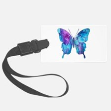 Electric Blue Butterfly Luggage Tag