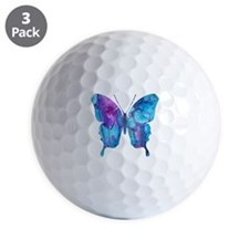 Electric Blue Butterfly Golf Ball