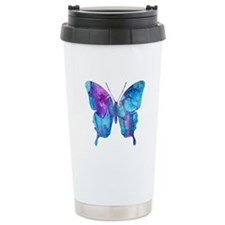 Electric Blue Butterfly Travel Mug