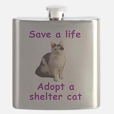 Shelter Cat Flask