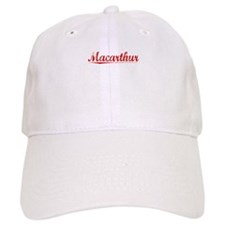 Macarthur, Vintage Red Baseball Cap