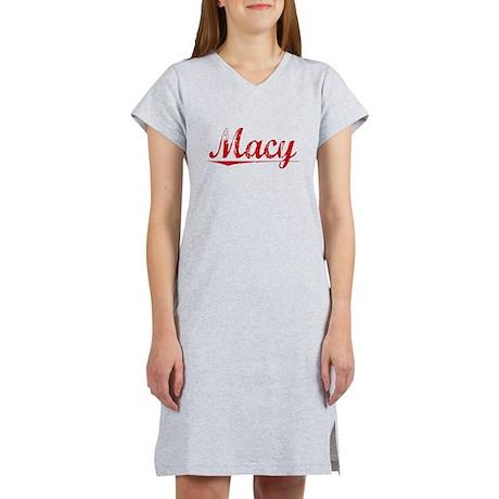 Macy, Vintage Red Women's Nightshirt
