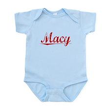 Macy, Vintage Red Infant Bodysuit