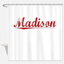 Madison, Vintage Red Shower Curtain