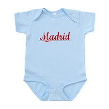 Madrid, Vintage Red Infant Bodysuit