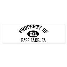 Property of BASS LAKE Bumper Bumper Sticker