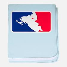 Major League Snowmobiler baby blanket