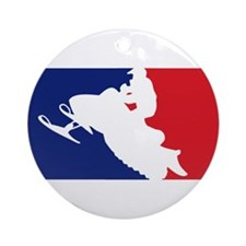 Major League Snowmobiler Ornament (Round)