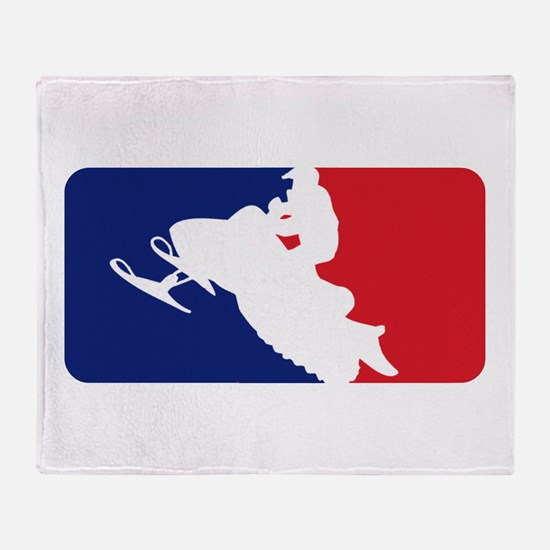 Major League Snowmobiler Throw Blanket