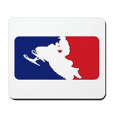 Major League Snowmobiler Mousepad