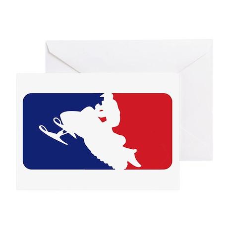 Major League Snowmobiler Greeting Card