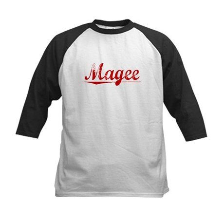 Magee, Vintage Red Kids Baseball Jersey