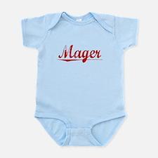 Mager, Vintage Red Infant Bodysuit
