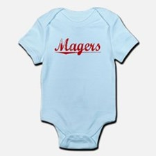 Magers, Vintage Red Infant Bodysuit