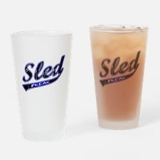 Sled Freak Drinking Glass