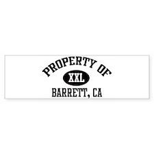 Property of BARRETT Bumper Bumper Sticker
