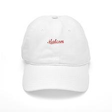 Malcom, Vintage Red Baseball Cap