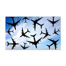 Air traffic, conceptual image - Car Magnet