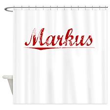 Markus, Vintage Red Shower Curtain
