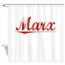 Marx, Vintage Red Shower Curtain