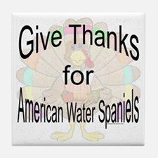 Thanks for Water Spaniel Tile Coaster