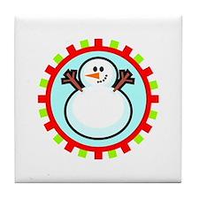 Snowman Circle Tile Coaster