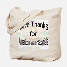 Thanks for Water Spaniel Tote Bag