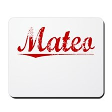 Mateo, Vintage Red Mousepad