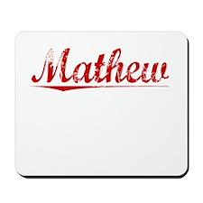 Mathew, Vintage Red Mousepad
