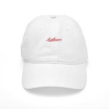 Mathews, Vintage Red Baseball Cap
