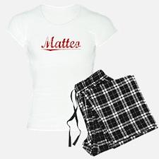 Matteo, Vintage Red Pajamas