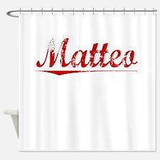 Matteo, Vintage Red Shower Curtain