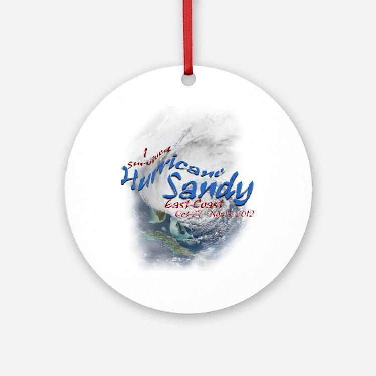 Hurricane Sandy Survivor: Ornament (Round)