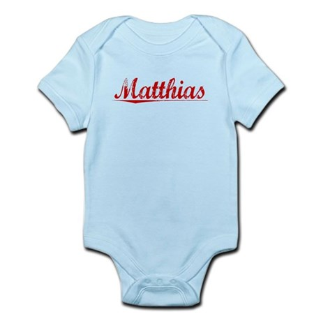 Matthias, Vintage Red Infant Bodysuit