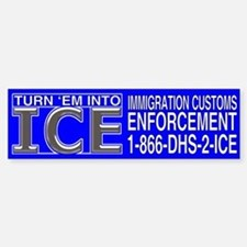 TURN 'EM INTO ICE - Bumper Bumper Bumper Sticker
