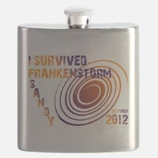 I Survived Frankenstorm Sandy 2012 Flask