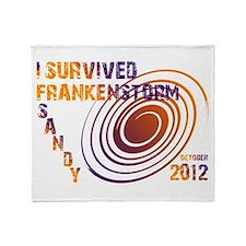 I Survived Frankenstorm Sandy 2012 Throw Blanket