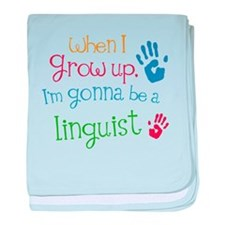 Kids Future Linguist baby blanket