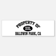 Property of BALDWIN PARK Bumper Bumper Bumper Sticker