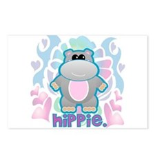 Retro Hippie Hippo Postcards (Package of 8)