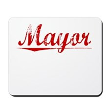 Mayor, Vintage Red Mousepad