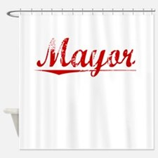 Mayor, Vintage Red Shower Curtain