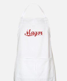 Mayor, Vintage Red Apron
