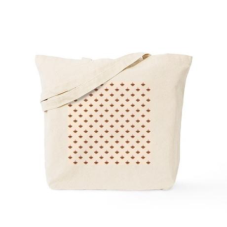 Medium Sock Monkey Face Print Tote Bag