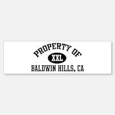 Property of BALDWIN HILLS Bumper Bumper Bumper Sticker