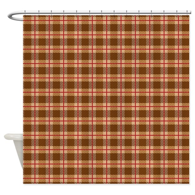 Autumn Plaid Shower Curtain by PrintedLittleTreasures
